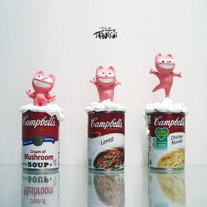 Une impression 3D par Crea3Dprint.com ! D'après le Chat Rose de Jérémy Taburchi.