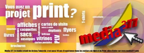 Media 377 studio créatif Web & Print pour vos travaux d'impression divers